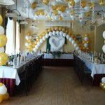 Оформления зала шарами на свадьбу